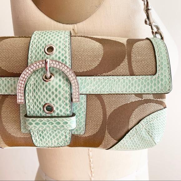Coach Handbags - Coach - Snakeskin trimmed purse (Limited edition)